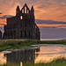 Whitby Abbey sunset 2014.