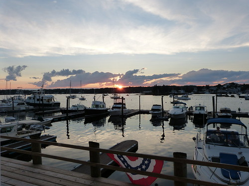 boats maine sunsets boothbayharbor