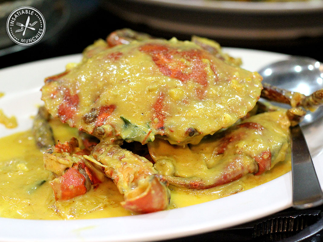 Mud crab is cooked into a rich sauce, thicken with salted duck egg yolks.