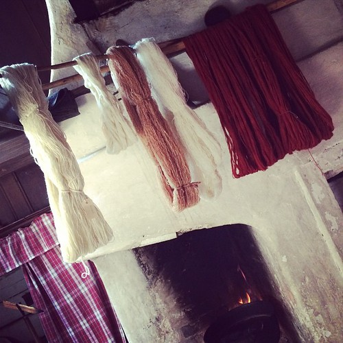 Hand-dyed yarn drying at Skansen Stockholm :) Lane tinte a mano appese ad asciugare presso Skansen Stoccolma :)