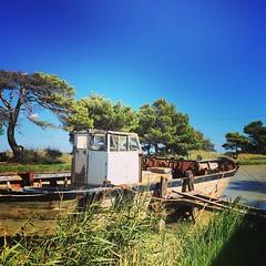 Canal de la Robine à l'Ile Sainte Lucie dans l'Aude. #aude #languedoc #jaimelafrance #igersfrance #igersmontpellier #boat #bateau #canal