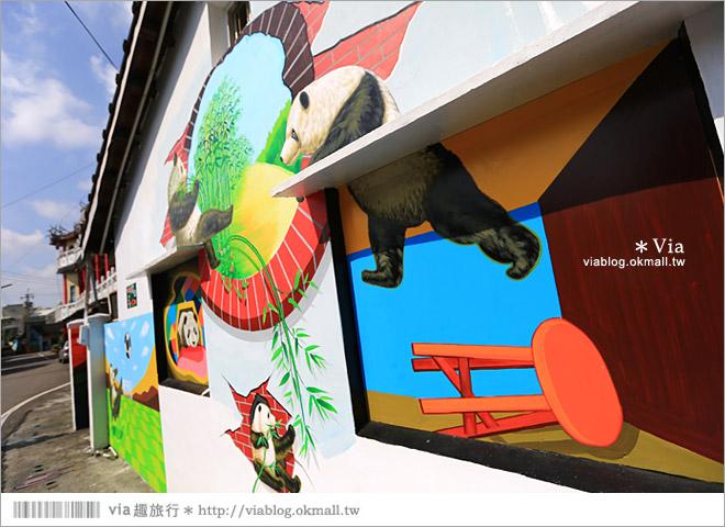 【雲林熊貓村】斗南鎮石龜熊貓村~最新!超萌又生動的立體3D畫彩繪村再一彈!23