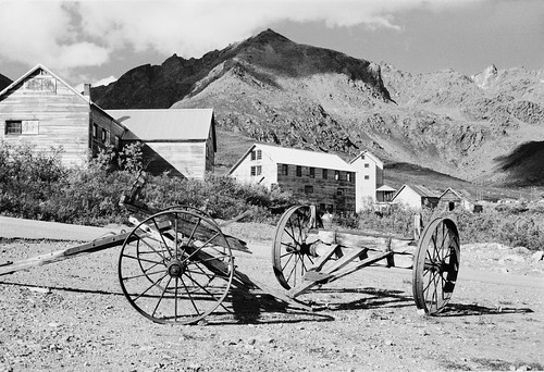 Carts at Independence Mine