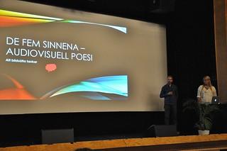 Filmpedagog Mårten Hård och litteraturpedagog Karna Nyström gav tips på hur man kan jobba med elevers texter och bilder.
