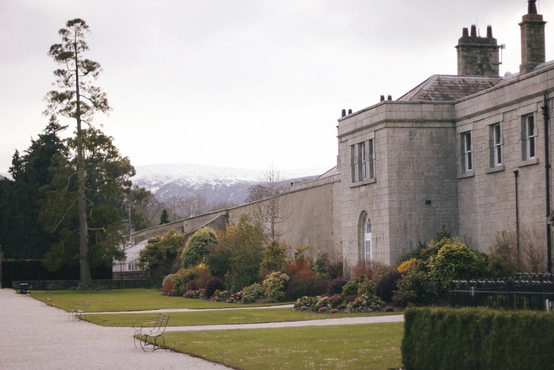 powerscourt house + mountains
