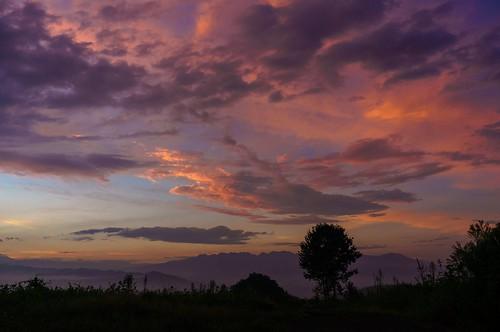 夕景 夕焼け 高崎 雨上がり