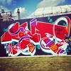 Other half of the #KiasmaWall #HelGraffiti by TMS Crew, Helsinki. #mustlovefestivals #juhlaviikot