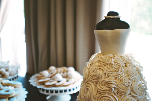Wedding dress cake.