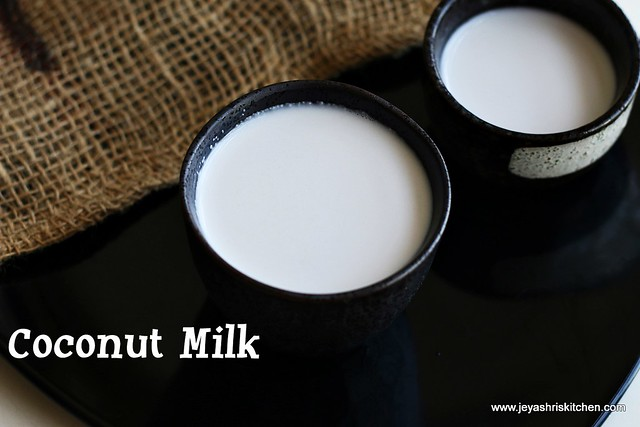 Home made-coconut -milk