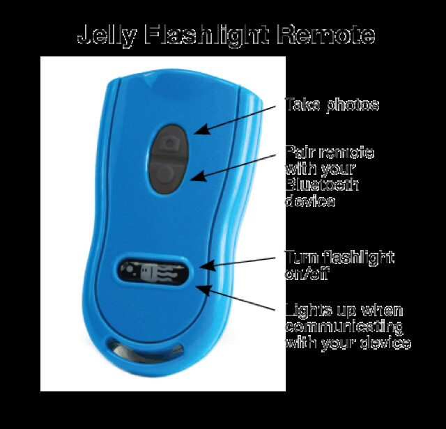 Jelly Flashlight Remote Functions