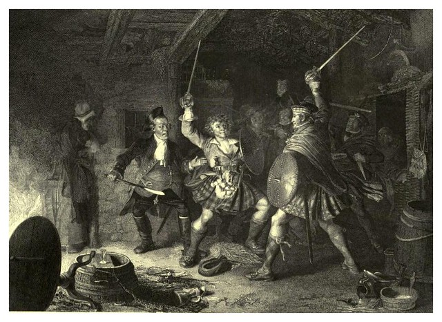 004- Escena de la novela Rob Roy-The gallery of British engravings…