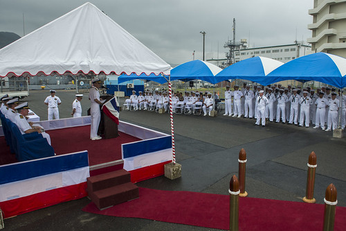 USS Warrior Holds Change of Command
