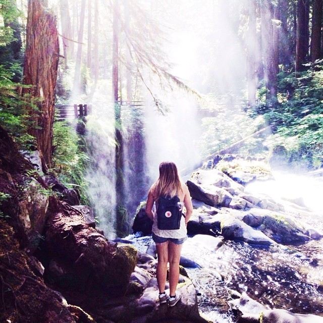At the Sol Duc Waterfalls yesterday...
