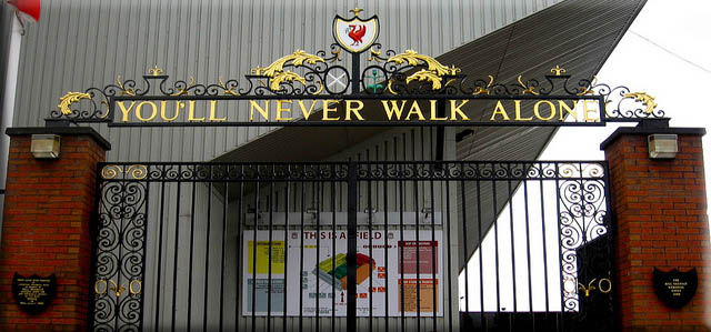 picture of Shankly gates Anfield