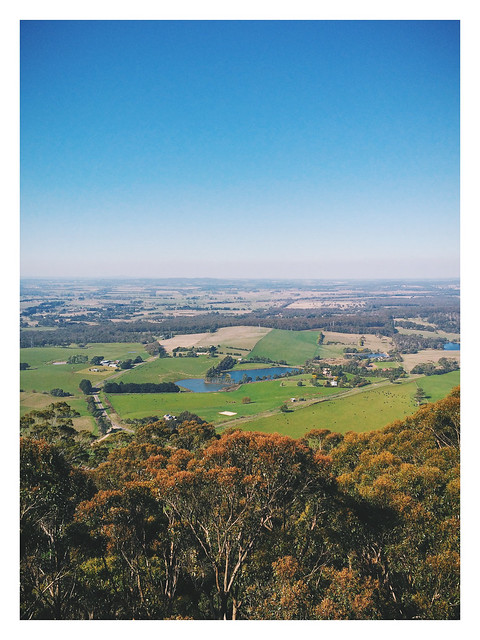 Lookout from Mount Buninyong's Observation Tower