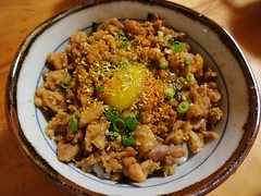 Minced Chicken Bowl with Japanese Spices @Torishig…