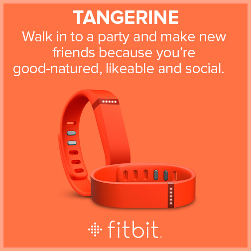 Fitbit Flex - Colors - Tangerine