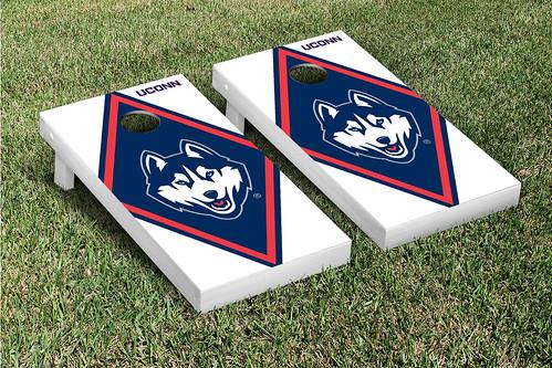 Connecticut UCONN Huskies Cornhole Game Set Diamond Version