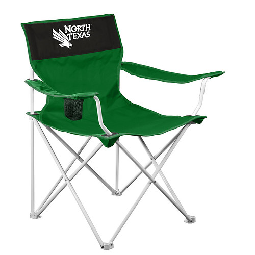North Texas Mean Green Canvas TailGate/Camping Chair