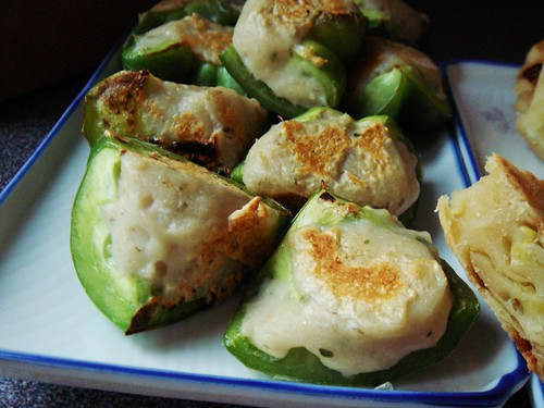 Pan-Seared Stuffed Green Pepper