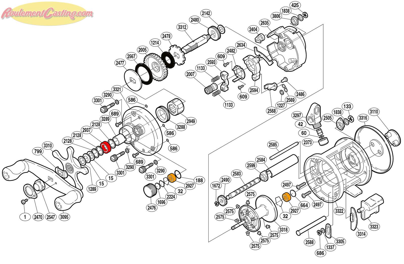 Schéma Shimano 05' CARDIFF 301A