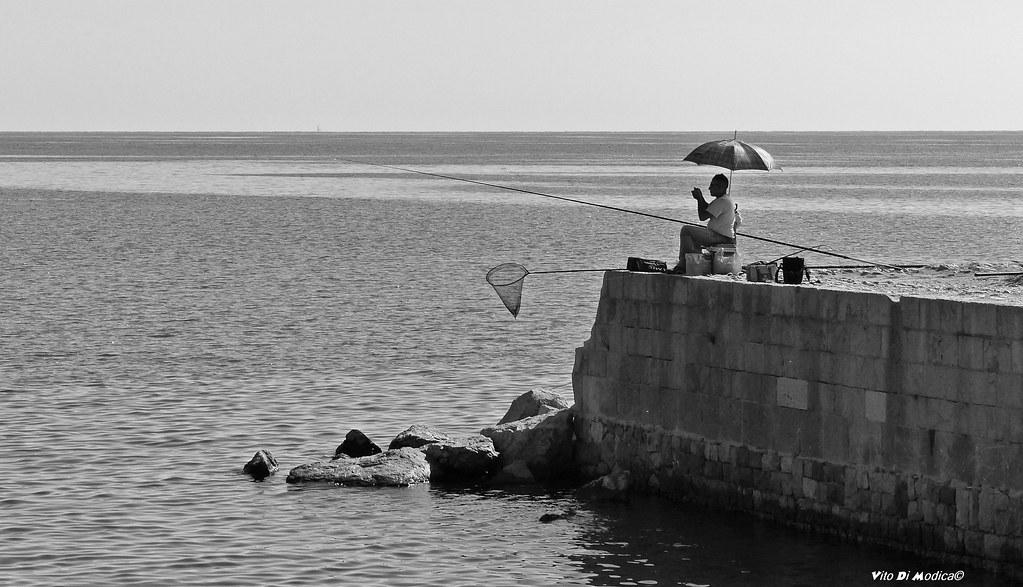 Pescatore...della domenica!! (in b&n)