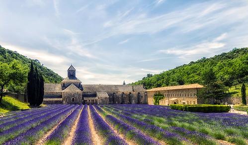 Francia, Gordes, Abbaye Notre Dame de Senanque