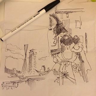 Apartment ballpointpen sketch