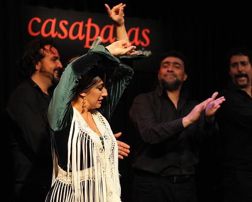 Agueda Saavedra bailando en nuestro tablao. Foto: Martín Guerrero