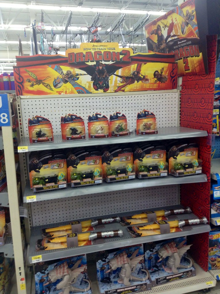 How to Train Your Dragon Two Displays and Toys at Walmart 2014, by Mike Mozart of TheToyChannel and JeepersMedia on YouTube #How #To #Train #Your #Dragon #2