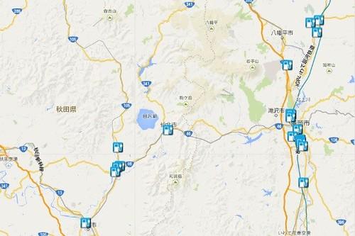 田沢湖周辺QCマップ