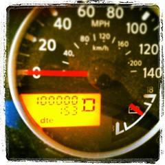 100k!   Always a big deal in our house.  Love my big gray beast. #100k. #lovemybiggraybeast. #pathfinder
