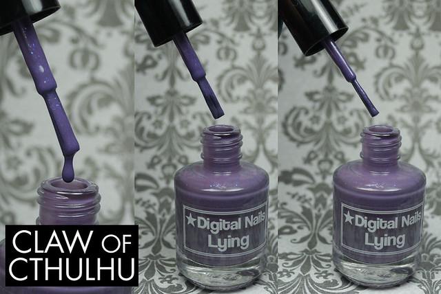 Digital Nails Lying Bottle