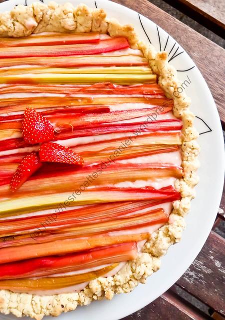Tarte Fraise & Rhubarbe / Strawberry & Rhubarb Tart