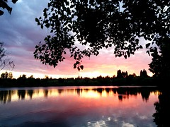 Sunset at Green Lake, Seattle