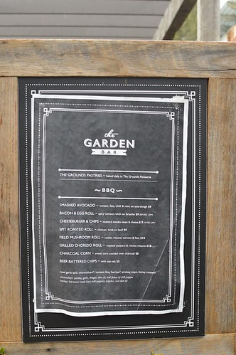 The Grounds of Alexandria: Garden bar menu