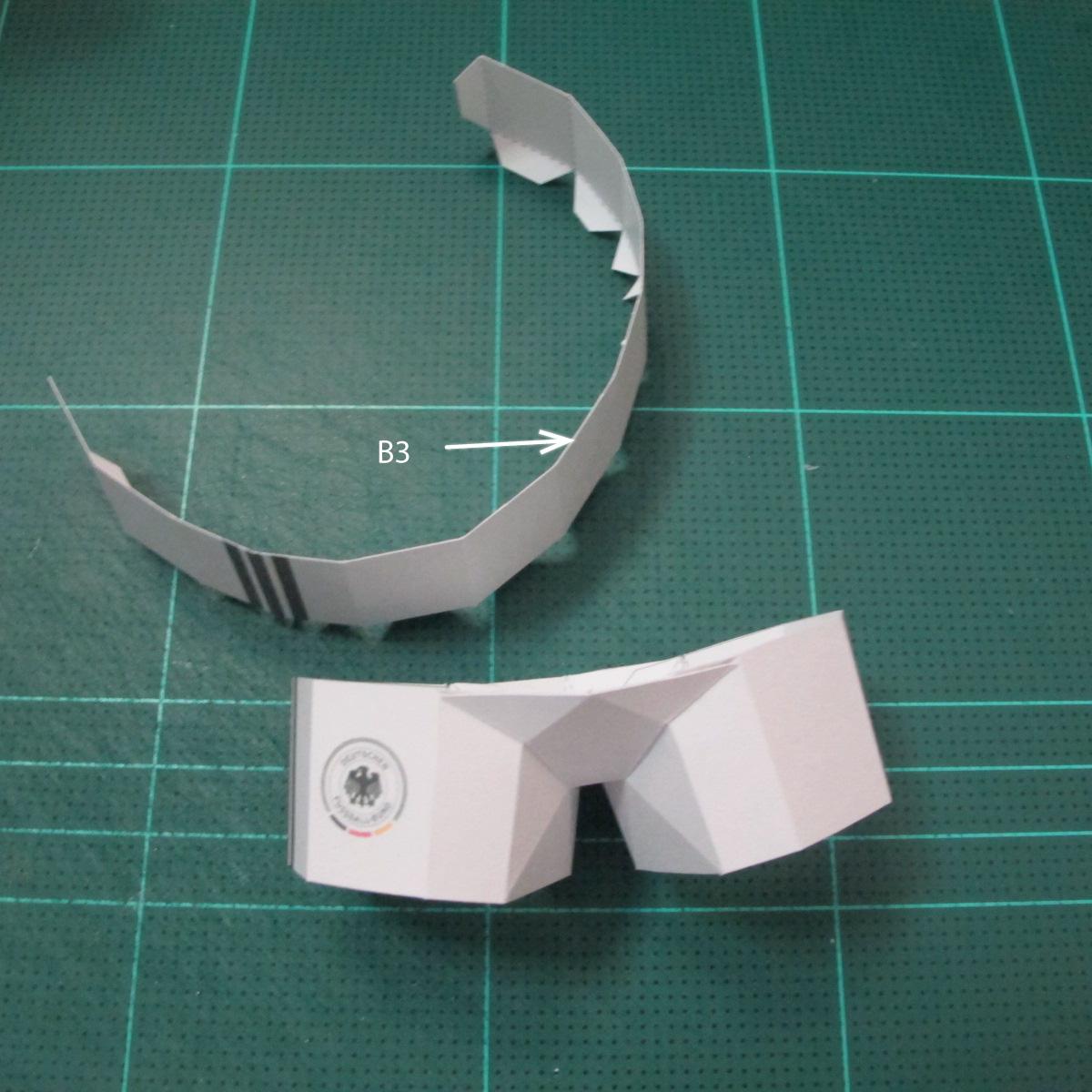 วิธีทำชุดนักบอลฟุตบอลโลก 2014 ทีมเยอร์มันสำหรับโมเดลหมีบราวน์ (FIFA World Cup  Soccer  Germany  Jersey Papercraft Model) 012