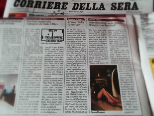 #ECOISMI2014 sul Corriere della Sera by Ylbert Durishti
