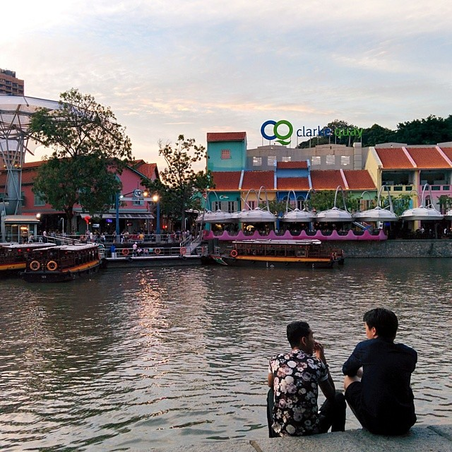 Saturday, late afternoon along the Singapore River.