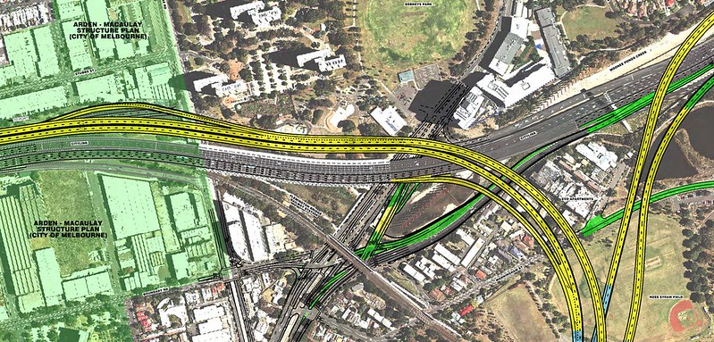 EWLink interchange to Citylink at Royal Park