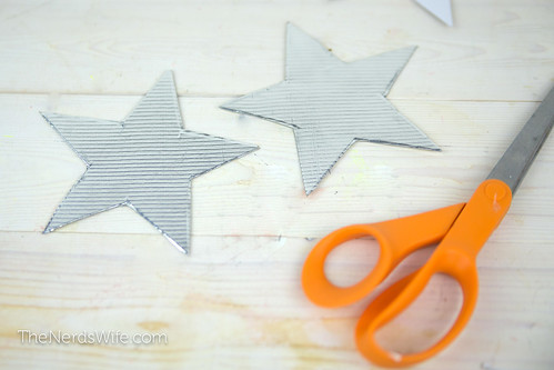 Cardboard Stars Covered In Duck Tape