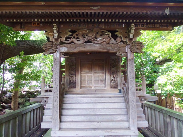 Wooden Carving at Nishiarai Daishi temple