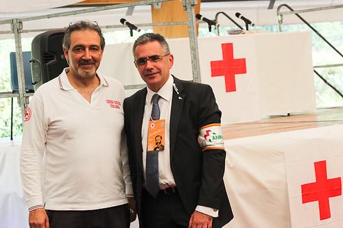 Con Francesco Rocca, presidente CRI