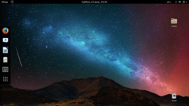 Рабочий стол GNOME в Ubuntu 14.04