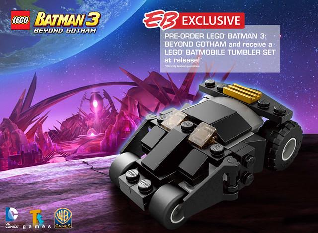 LEGO Batman 3 Batmobile Tumbler Set Pre-order Bonus