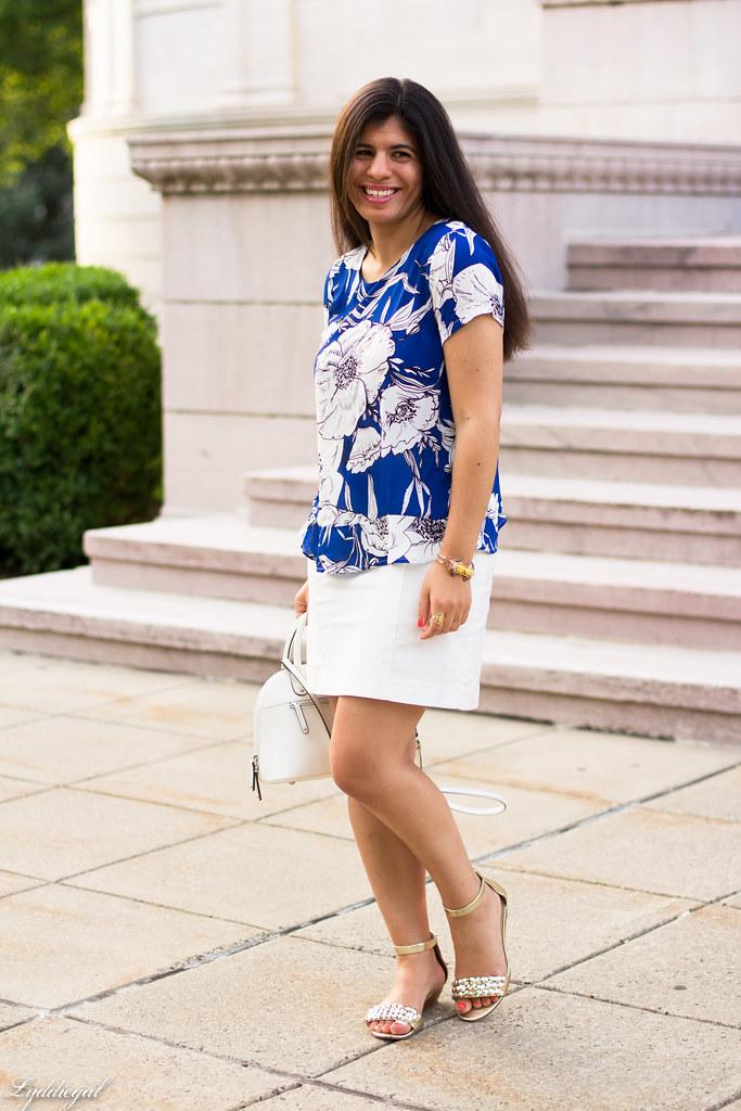 blue floral blouse, white pencil skirt-1.jpg