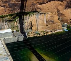 Water seeping through Navajo Sandstone at base of dam