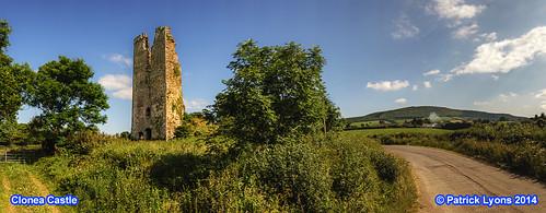 Clonea Castle panorama