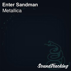 "Now playing  ♫ ""Enter Sandman"" by Metallica 