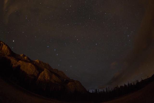 バンフの夜の星
